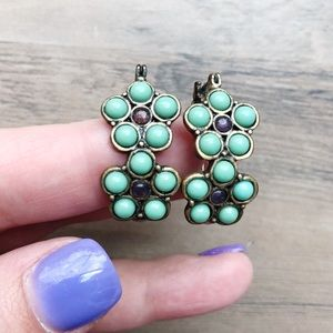 Lucky Brand Turquoise Floral Earrings